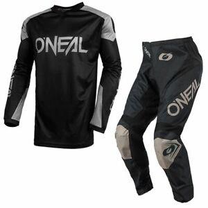 Oneal 2021 Matrix Ridewear Motoccross MX Enduro Ride Gear Kit Combo Black