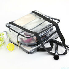 Cosmetic Case Clear Plastic PVC Travel Cosmetic Make Up Zipper Hand Bag APZ2