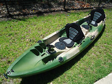 NEW FAMILY 2+1 DOUBLE SIT ON FISHING KAYAK PACKAGE CANOE SURF SKI