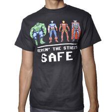 Marvel Disney The Avengers Comics street safe licensed black T-Shirt Bioworld