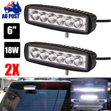 2x 6inch 30W LED Work Light Bar Fog Driving Lamp Flood Beam Offroad Reverse UTE