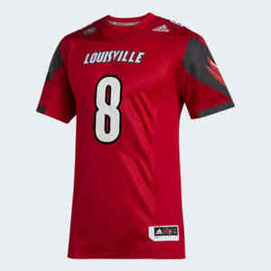 Adidas Louisville Cardinals Lamar Jackson Premier Sewn Jersey #8 TechFit Size M