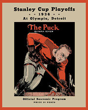 Detroit Red Wings 1936 Stanley Cup Finals Program Cover - 8x10 Color Photo