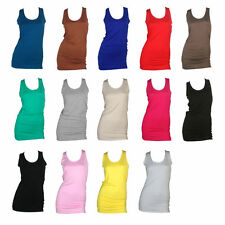 Women's Scoop Neck Jersey Vest Top, Strappy, Cami Tops & Shirts