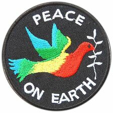 Peace on Earth Bird Dove Save the World Love Forest Nature Iron-On Patches #0856