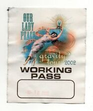 Our Lady of Peace 2002 Gravity Tour Working Crew Satin Backstage Pass