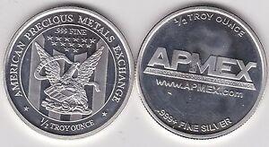 U.S.A. APMEX HALF OUNCE .999+ SILVER ROUND IN NEAR MINT CONDITION