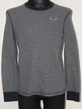 Hollister California mens cotton long sleeve striped sweatshirt size S