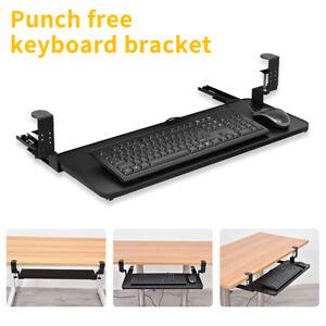 Keyboard Tray Under Desk Clamp On Keyboard Drawer Stand Keyboard Sliding Tray