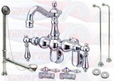 Chrome Clawfoot Tub Faucet Kit - With Drain & Supplies