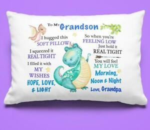 To My Grandson Pillowcase Gift From Grandpa Grandfather Pillow Covering Birthday
