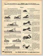1919 PAPER AD 5 PG Stanley Bailey Bed Rock Plane Block Parts Repair Diagram