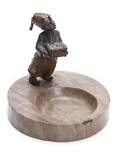 AUSTRIAN COLD PAINTED BRONZE FIGURAL ASHTRAY C.1900