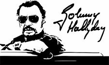 Sticker Johnny Hallyday Signature - 86x57 cm