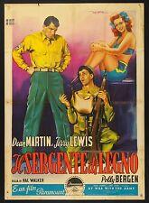 MANIFESTO, IL SERGENTE DI LEGNO At War with the Army J.LEWIS, D.MARTIN, POSTER