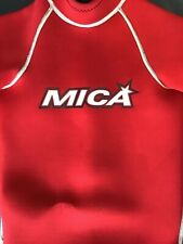 MICA Childs Wetsuit Shorty Sz 6 Red and Watershoes Sz 8 Kids Watersports