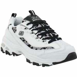 Skechers D'lites Fancy Leopard Training  Womens Training Sneakers Shoes Casual