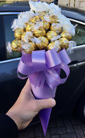 Purple Roses & Chocolates Bouquet Gift Hamper For Gift Birthday Easter