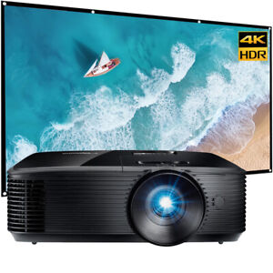 """Optoma HD146X Vibrant Home Theater Projector for Movies & Gaming + 120"""" Screen B"""