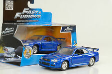 2002 Brian`s Nissan Skyline GTR R34 Movie Fast and & Furious blue 1:32 jada