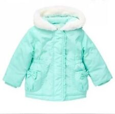 Nwt Gymboree Bow Pocket Hooded Winter Jacket Coat 5T Sweet Mint Green $65 Lined