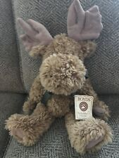 Vintage The Boyd's Collection LTD Plush Moose Jointed Stuffed Doll Toy 1984-1989