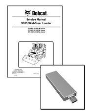 Bobcat S185 Skid Steer Loader Workshop Service Manual USB Stick + Download