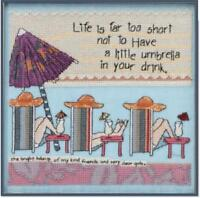 MILL HILL CURLY GIRL DESIGNS Counted Cross Stitch Kit - LIFE'S TOO SHORT