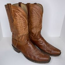 Lucchese Heritage Snip Toe Size 11 Mens Brown Cowboy Western Boots