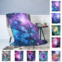 Galaxy Soft Warm Flush Flannel Throw Sofa Bed Blanket Office Rug Quilt Washable