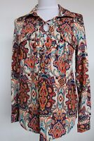 BCBG Maxazria Blouse Shirt Lace-Up Long Sleeve Size S NWT