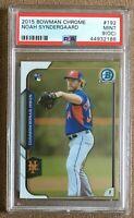 Noah Syndergaard 2015 Bowman Chrome Rookie #192 Graded PSA 9 Mint Mets Topps MLB