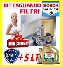KIT 4 FILTRI TAGLIANDO BOSCH LANCIA DELTA III 1.6 D MJET + 5LT CASTROL EDGE 5W30