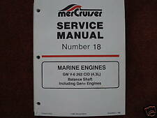 MERCRUISER DEALER SERVICE MANUAL'S-ENGINES-GM V6