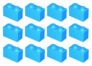 Lego Brick 3004 Blue x 12 Brick 1 x 2