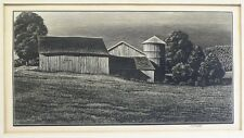 Asa Cheffetz American Woodblock Farm Buildings