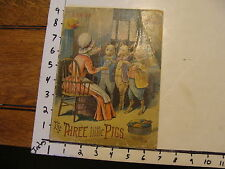 McLOUGHLIN BROS BOOK: 1893 The three little Pigs: on linen sunshine series