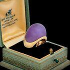 Antique Vintage Deco Retro Style 14k Gold Chinese Carved Jadeite Jade Ring Sz 6