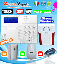 KIT2 ALLARME SENZA FILI WIRELESS ANTIFURTO CASA GSM 868Mhz IP Defender ST-6 GOLD