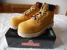 Men's Brahma Steel Toe Leather Work Boots Size 7 Wheat Bravo NEW W BOX
