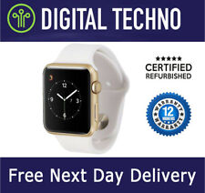 Refurbished Grade A Wi-Fi + 3G 38mm Series 3 Apple Watch Gold with White Strap
