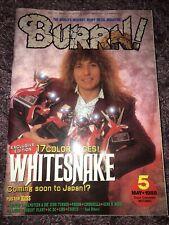 BURRN! magazine Japan May 1988 David Coverdale Whitesnake