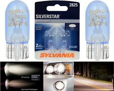 Sylvania Silverstar 2825 5W Two Bulbs License Plate Tag Light Upgrade OE Stock