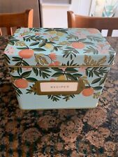 Anthropologie RIFLE PAPER CO Citrus Floral Recipe Box Kitchen NEW & COMPLETE