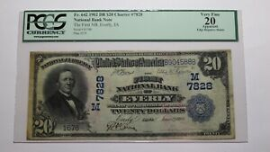 $20 1902 Everly Iowa IA National Currency Bank Note Bill Ch. #7828 VF20 PCGS