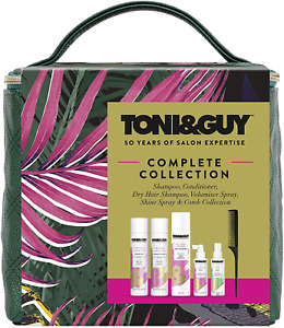 Toni&Guy Complete Style Gift Set Vegan Leather Carry-All Bag Collection Cube for