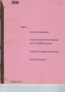 IBM STUDENT TEXT BOOK 1 FIXED POINT OPERATION 1965