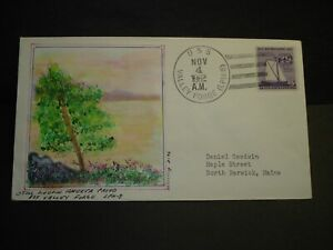 USS VALLEY FORGE LPH-8 Naval Cover 1962 MORRISSEY HAND-PAINTED ADD-ON Cachet