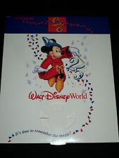 Walt Disney World 25th Anniversary Gift Box Mickey Mouse Sorcerer Disneyana New