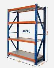 2m x 2m Warehouse Garage Metal Steel Storage Shelving Racking Shelves Racks